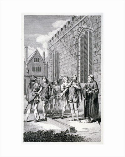Scene outside the Tower of London, depicting the beheading of Lord Hastings, 1483 (c1850) by Anonymous