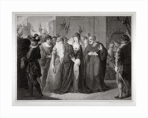 Lady Jane Grey being led to her execution at the Tower of London, 1554 (1797) by Anonymous