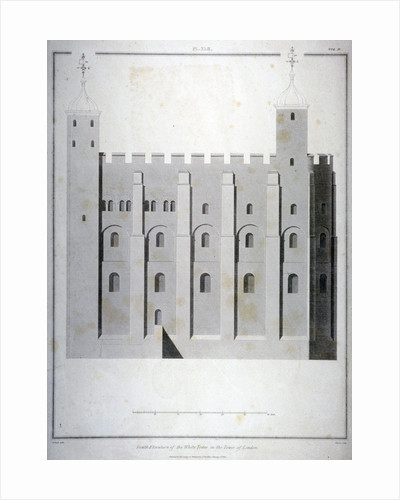 South elevation of the White Tower, Tower of London by James Basire II