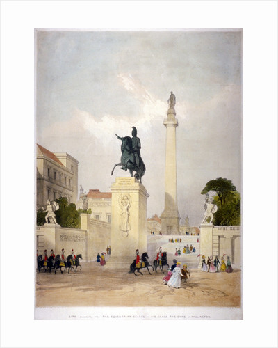 The Mall and Waterloo Place, Westminster, London by Thomas Allom