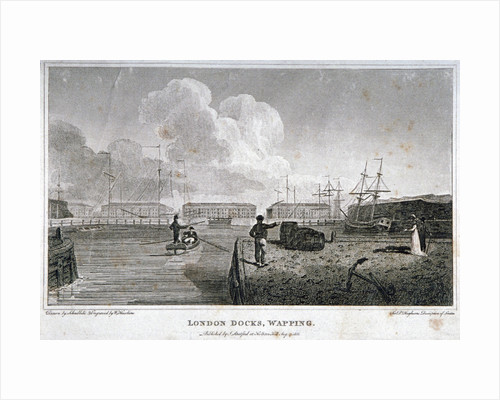 London Docks, Wapping by William Daniell