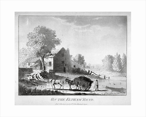 Horse and cart on the Eltham Road in Woolwich, Kent by Anonymous