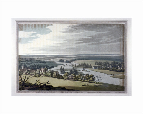 View of Streatley and Goring in Berkshire and Oxfordshire by Joseph Constantine Stadler