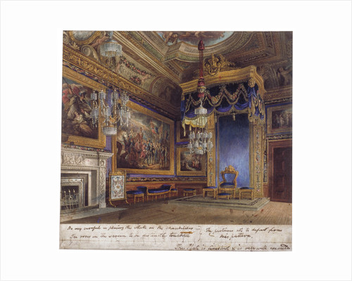 Interior view of the King's Audience Chamber in Windsor Castle, Berkshire by Daniel Havell
