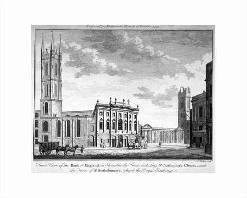 Front view of the Bank of England, City of London by English School