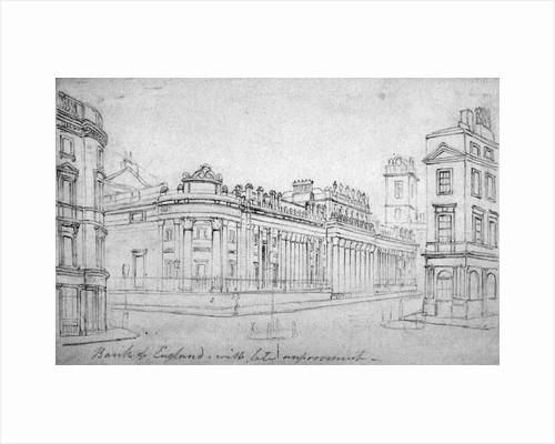 The Bank of England, City of London by Thomas Hosmer Shepherd