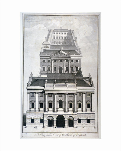 Perspective view of the Bank of England, City of London by Benjamin Cole