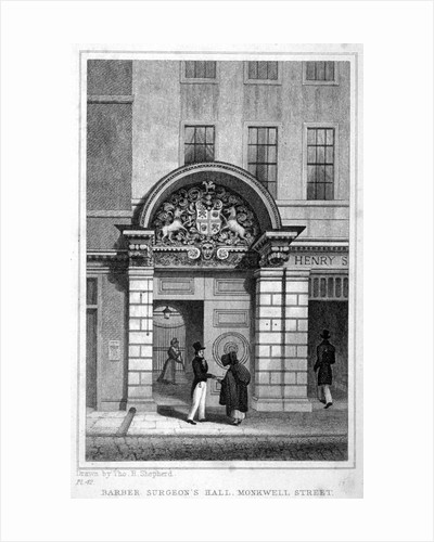 Entrance to Barber Surgeons' Hall, City of London by John Greig