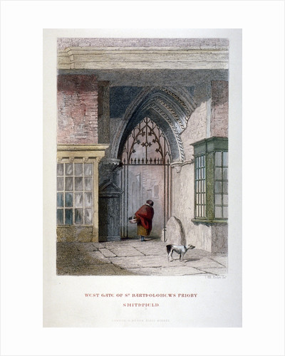 West gate of the old Priory of St Bartholomew-the-great, Smithfield, City of London by John Wykeham Archer