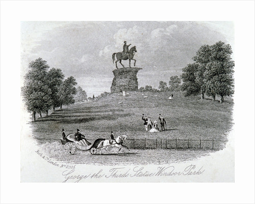 Equestrian statue of King George III, Snow Hill, Windsor Great Park, Berkshire by W&D Downey