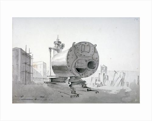 Steam machine, New Road, Islington, London by John Claude Nattes