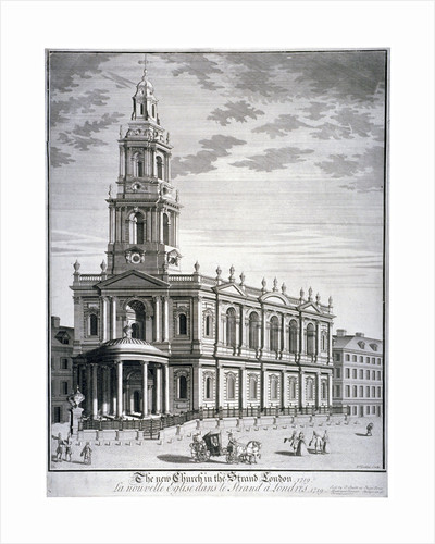 Church of St Mary le Strand, Westminster, London by David Lockley