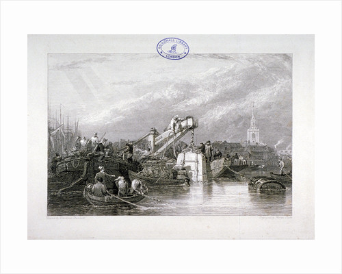 Construction of the Thames Tunnel, London by George Cooke