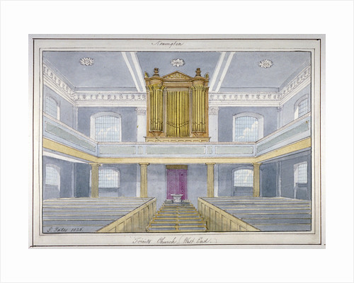 Interior of Holy Trinity Church, Newington, Southwark, London by G Yates