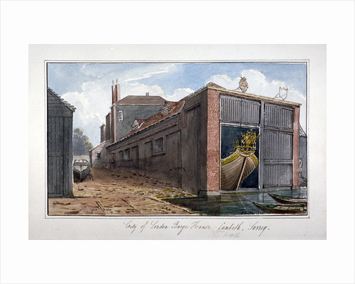 City of London Barge House, Bishop's Walk, Lambeth, London by G Yates