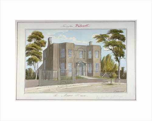 The Manor House, Newington, Southwark, London by G Yates