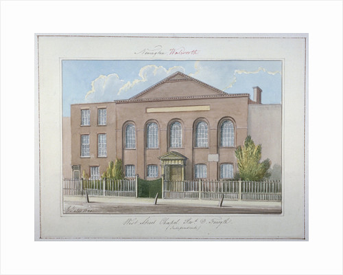 West Street Independent Chapel, Southwark, London by G Yates