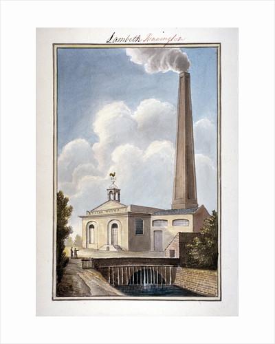 New London Waterworks, Vauxhall, Lambeth, London by G Yates