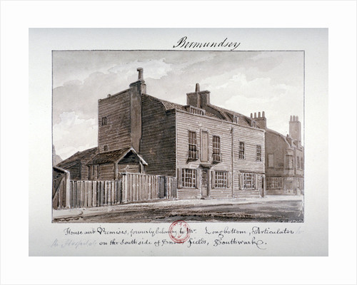 View of houses on the south side of Snowsfields, Bermondsey, London by John Chessell Buckler