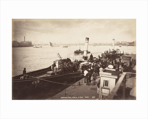 A paddle steamer disembarking passengers at Greenwich Pier, London by Anonymous