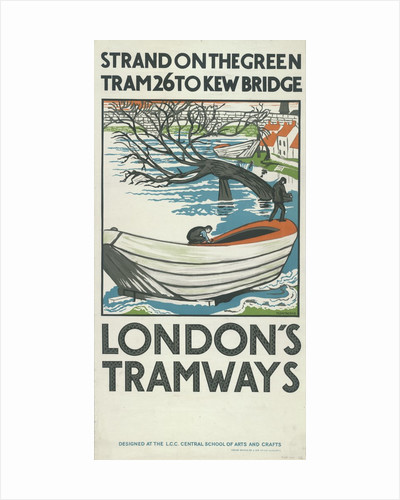 Strand on the Green, Tram 26 to Kew Bridge, London County Council (LCC) Tramways poster by Anonymous