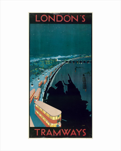 London's Tramways, London County Council (LCC) Tramways poster by Anonymous