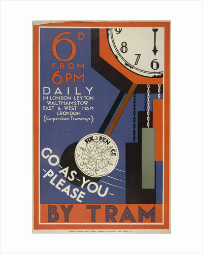London County Council (LCC) Tramways poster by Anonymous