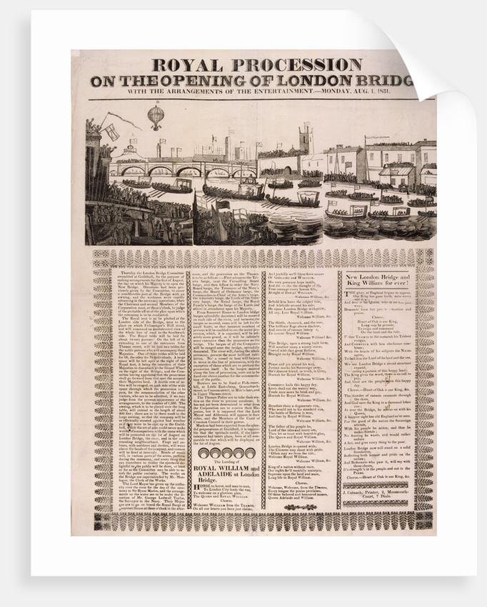 View of the opening of London Bridge by