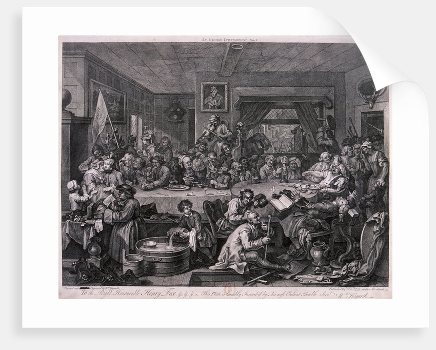 An election entertainment, plate I of The Election by