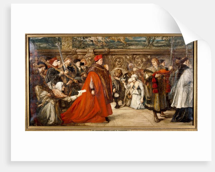 Cardinal Wolsey, Chancellor of England, on his Progress to Westminster Hall by Sir John Gilbert