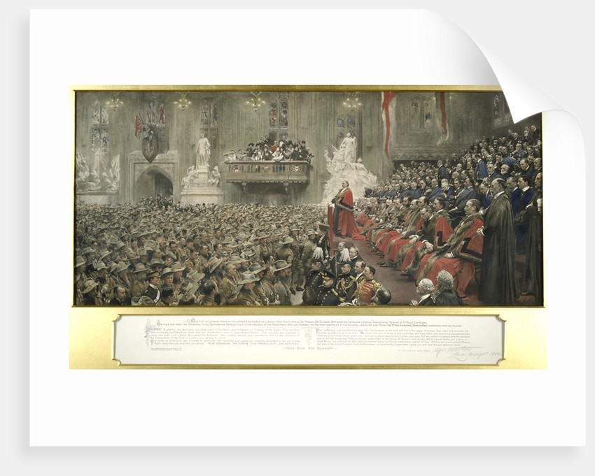 The City Imperial Volunteers in Guildhall, London by John Henry Frederick Bacon