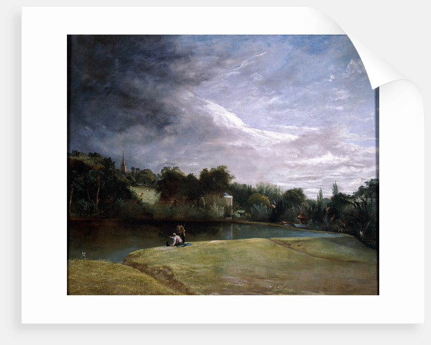 Boys Fishing in a Reservoir near Hampstead by