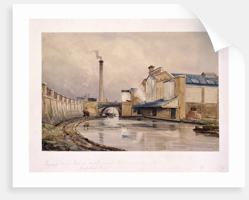 Regents Canal and Southampton Bridge, London by Anonymous