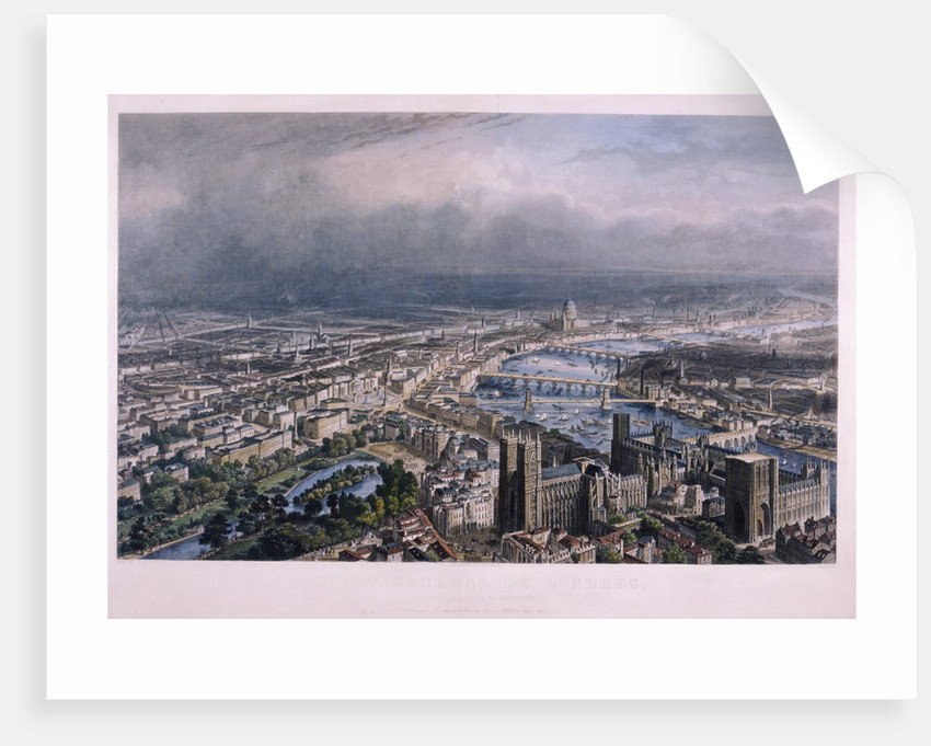 View of London from Westminster by