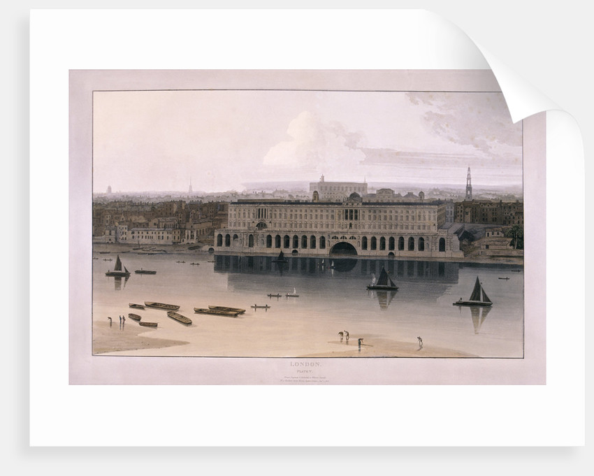 Somerset House, London by William Daniell