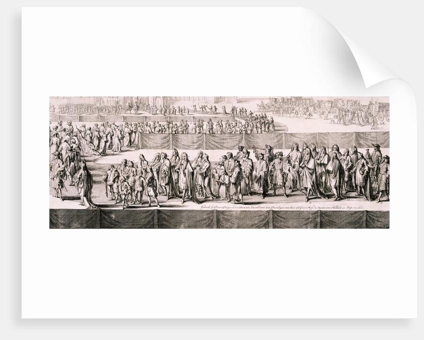 Queen Mary II's funeral, Westminster Abbey, London by Romeyn de Hooghe