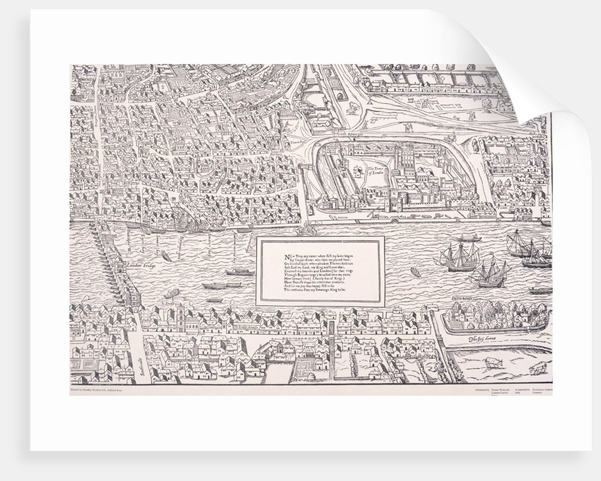 Agas' Map of London by Anonymous