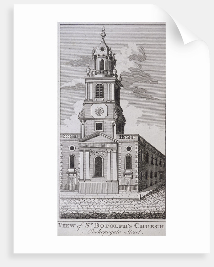 St Botolph without Bishopsgate, London by J Hinchcliff