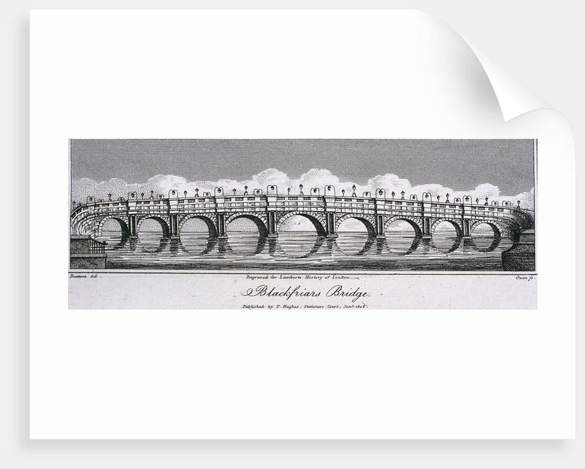 Blackfriars Bridge, London by Samuel Owen