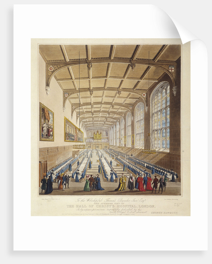 Christ's Hospital, London by George Hawkins