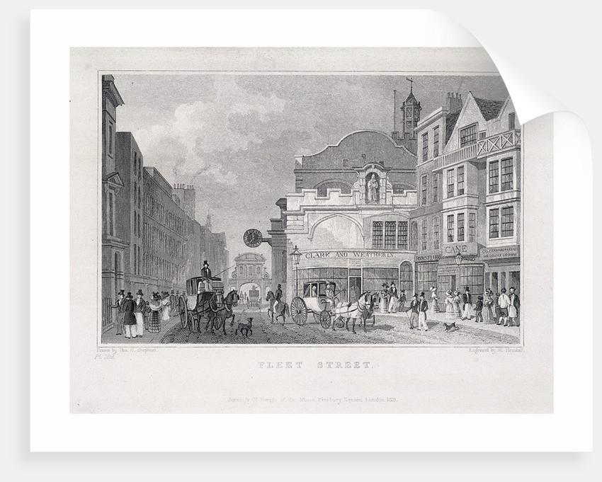 Fleet Street, London, 1831 by W Henshall