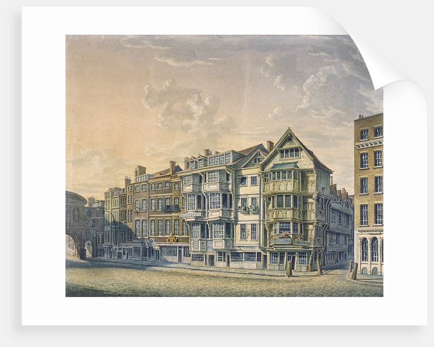 Fleet Street, London, 1798 by William Capon