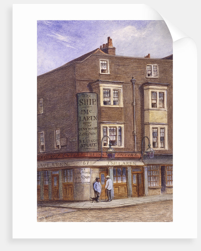 Ship Tavern, Goodman's Yard, London by JT Wilson