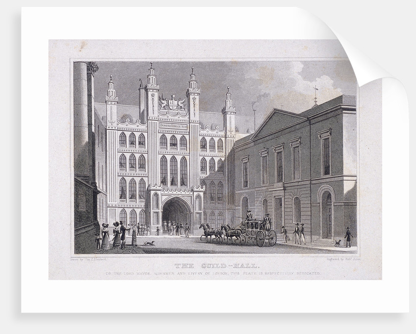 Guildhall, London by R Acon