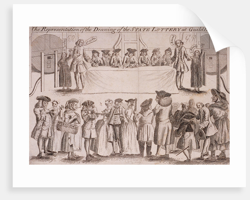 State Lottery at Guildhall, London by Anonymous