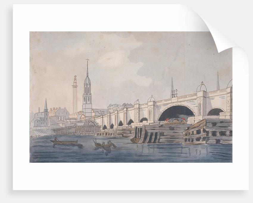 London Bridge (old), London by Anonymous