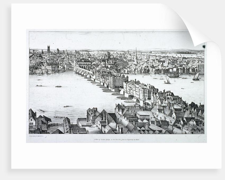 London Bridge (old), London by R Martin