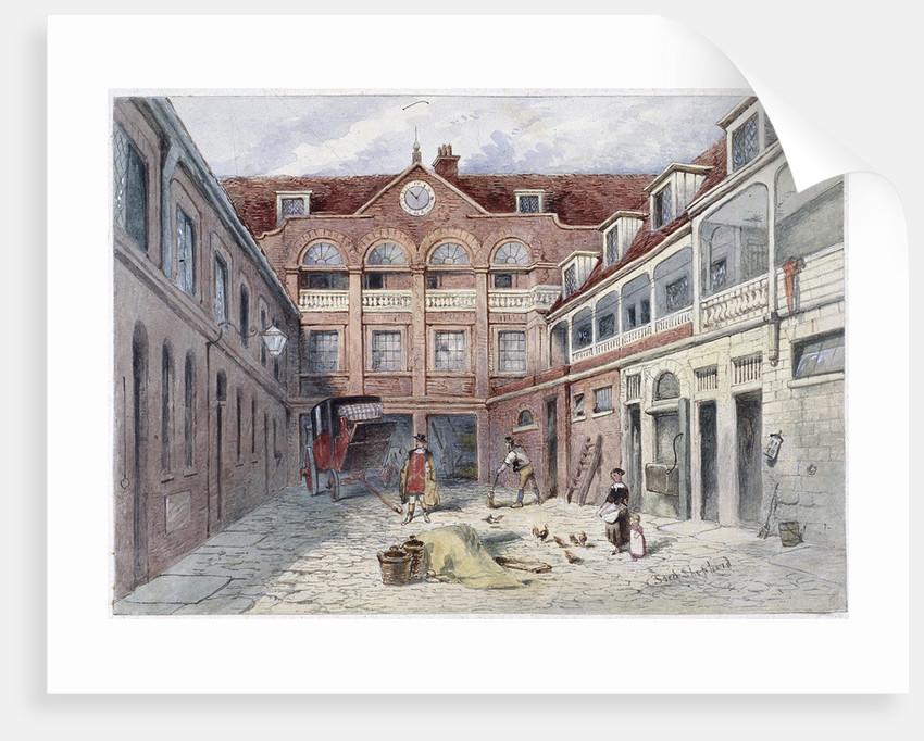 The Blue Boar Inn, Holborn, London by Frederick Napoleon Shepherd