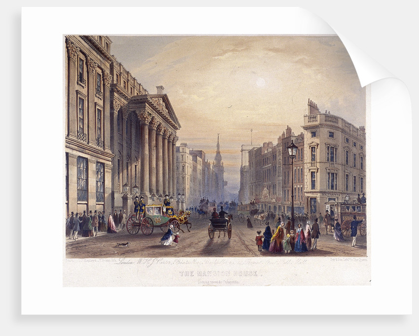 Mansion House (exterior), London by Thomas Picken