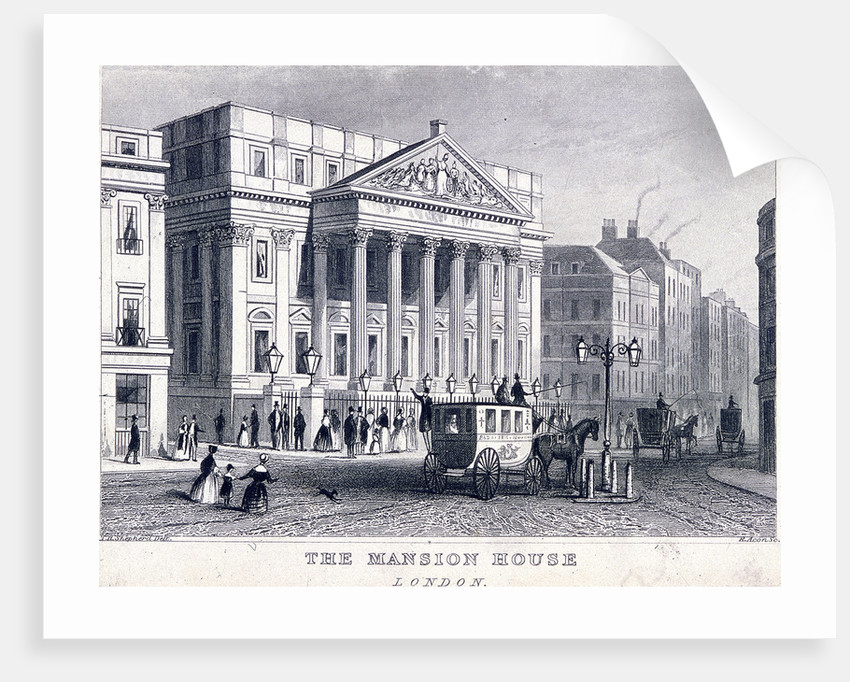 Mansion House (exterior), London by R Acon